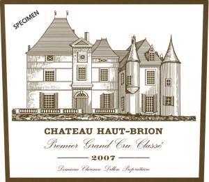 Etiquette Château Haut-Brion 2007 400 dpi specimen